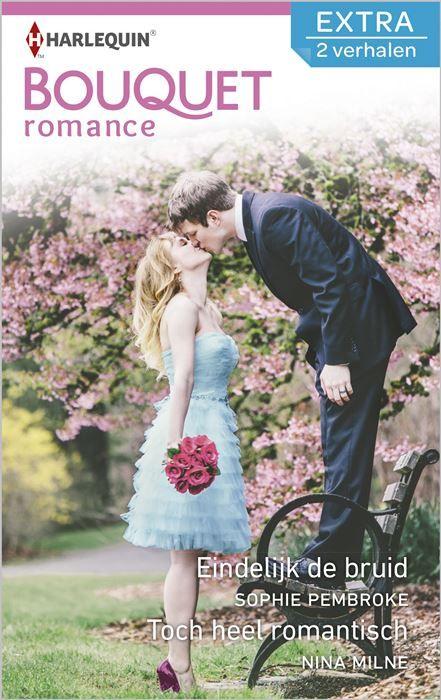 Eindelijk de bruid ; Toch heel romantisch (2-in-1)  (1) EINDELIJK DE BRUID - Natuurlijk zou Violet ook wel eens de bruid willen zijn en niet het eeuwige bruidsmeisje. Alleen durft ze na een gênant schandaal geen man meer te vertrouwen. Wanneer ze de knappe Tom ontmoet gaat ze dus niet meteen een trouwjurk kopen. Hij is nota bene journalist! Ook Tom heeft zijn reserves tot hij ontdekt dat de mooie Violet heel anders is dan hij dacht. Kan hij haar laten zien dat hij haar vertrouwen waard is…