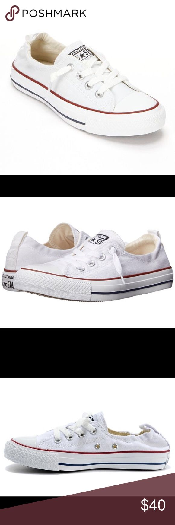Converse Chuck Taylor White Slip Ons Worn only once or twice so they're in new condition Converse Shoes Sneakers