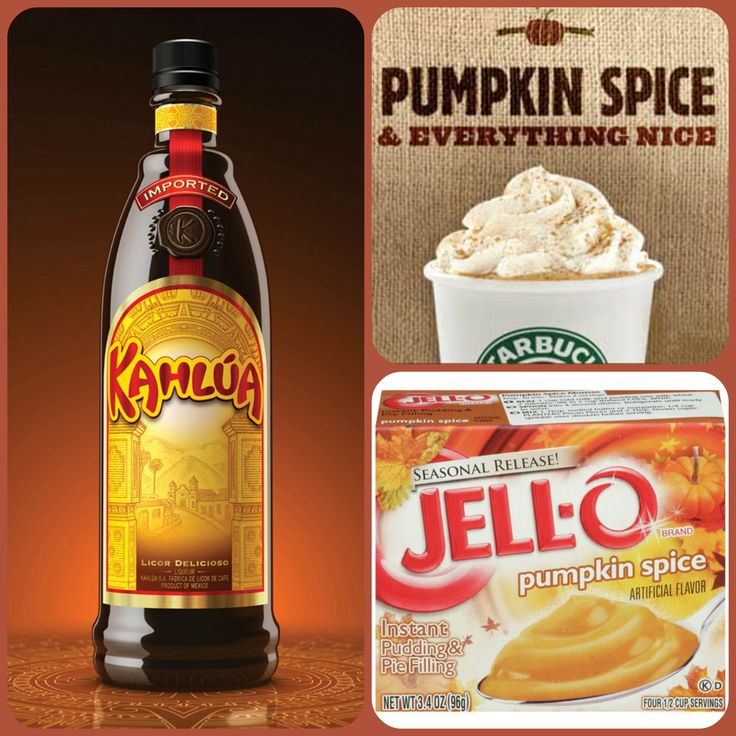 Pumpkin Spice Latte Pudding Shots #2 1 small Pkg. pumpkin spice instant pudding ¾ Cup Milk 3/4 Cup Kahlúa 8oz tub Cool Whip  Directions 1. Whisk together the milk, liquor, and instant pudding mix in a bowl until combined. 2. Add cool whip a little at a time with whisk. 3.Spoon the pudding mixture into shot glasses, disposable shot cups or 1 or 2 ounce cups with lids. Place in freezer for at least 2 hours