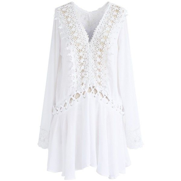 Talk about stepping out in hot pursuit! You'll totally give them something to chase in this laid-back white dress that's as appropriate for running errands as …