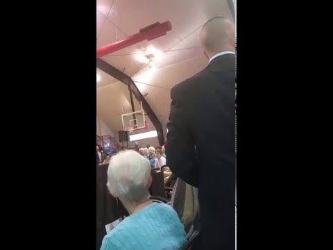 video bill clinton snaps veteran during speech shut listen answer