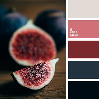 бордовый, винный цвет, коричнево-красный, оттенки бордового, оттенки синего, полуночно-синий, темно-бордовый, темно-синий, темный красный, фиолетовый, цвет вина, цвет инжира, цвета инжира, яркий алый, яркий винный.