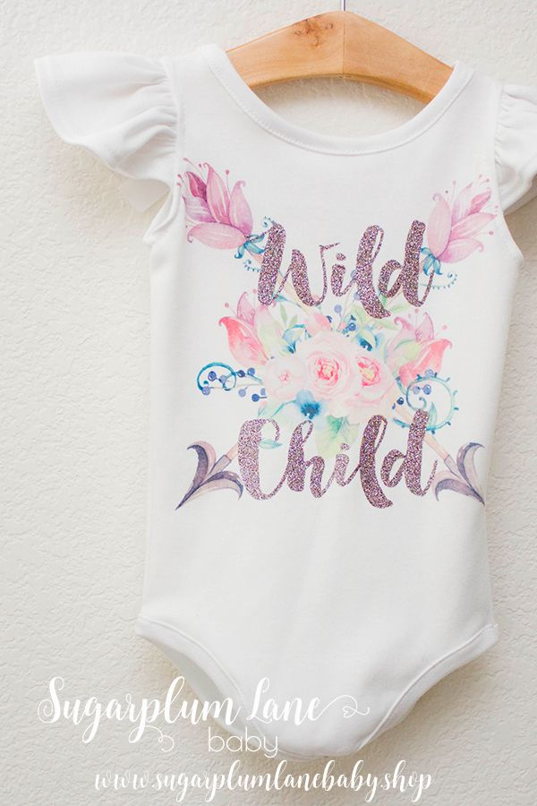 Do you have a Wild Child? Re-Pin if you do! Handmade from start to finish with sparkling glitter.