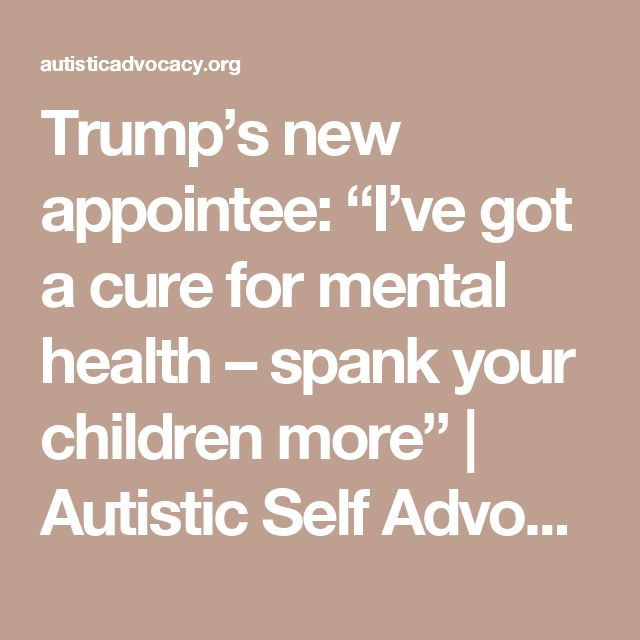 """Trump's new appointee: """"I've got a cure for mental health – spank your children more"""" 
