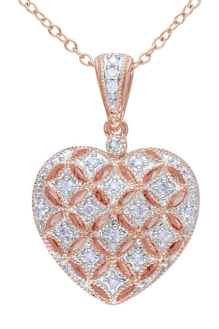 Diamond Heart Locket, Hautelook
