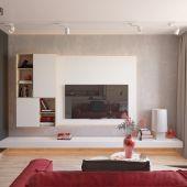 Проект 2х-ярусной квартиры с элементами украинской тематики