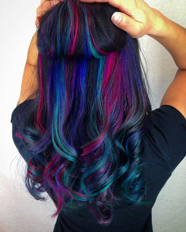 multi-colored hair | Best 25+ Underlights hair ideas on Pinterest | Dyed hair ...