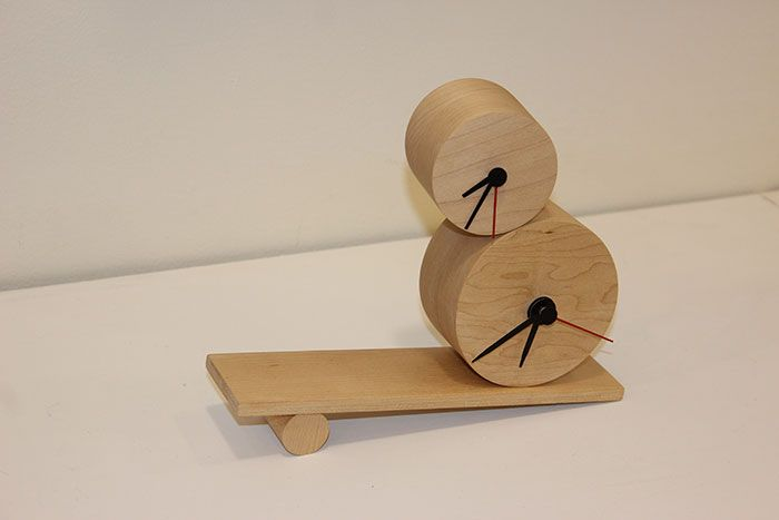 The Swing Clock by Alex Hazewinkel at 3D NOW - Central Institute of Technology Product Design students exhibition