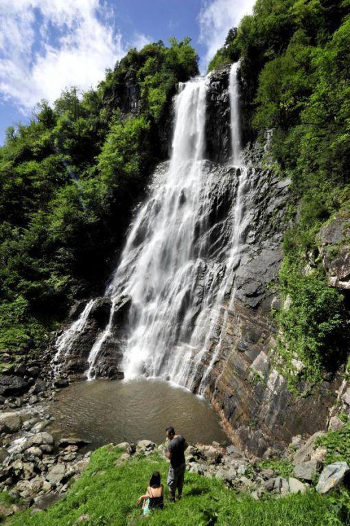 Artvin Arhavi Kamilet Valley  Mençuna Waterfall Turkey