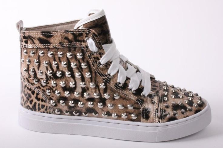 Jacky Luxury hoge sneakers met tijgerprint €109.95