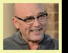 Masterchef's Gregg Wallace really suits these retro Ray Ban Clubmaster specs…
