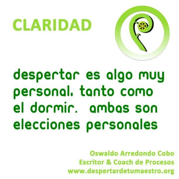 #despertar es una #eleccion personal