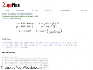 This site is an amazing resource for math equations. Find equations for calculus, geometry, algebra, and trigonometry.