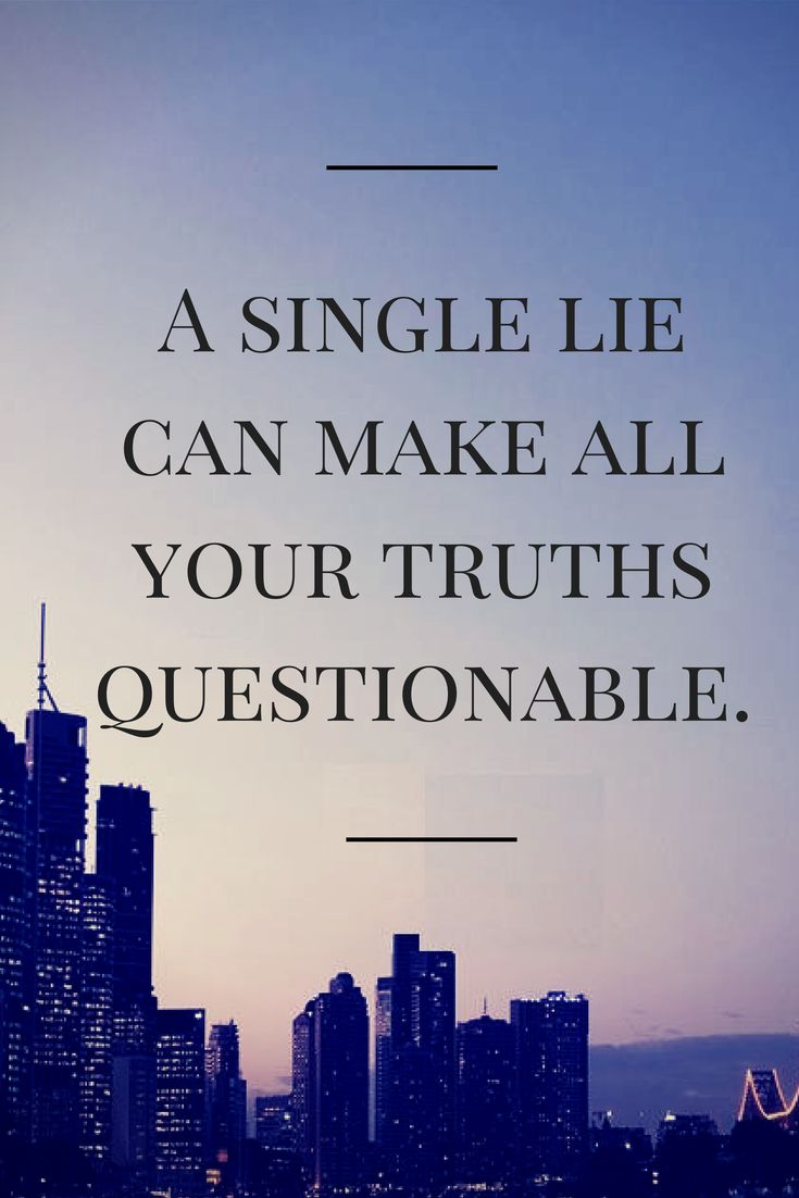 someone who lies about their life