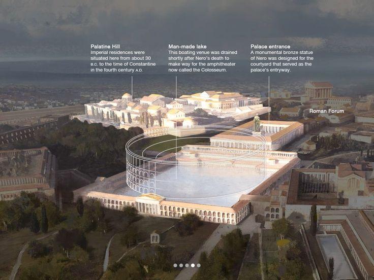 Les 21 meilleures images du tableau rome nero domus aurea for Architecture romaine