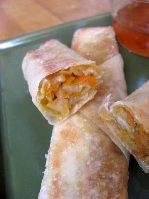 Baked Vegetable Egg Rolls from New Nostalgia. So yummy, even my kids devoured them. #healthy #food #vegetarian