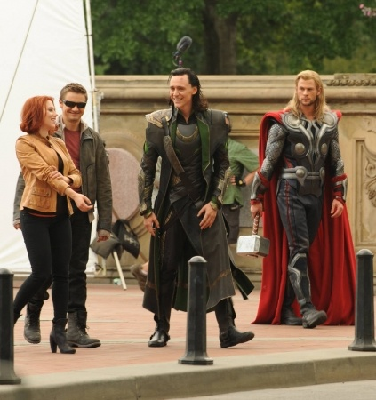 The Avengers cast (behind the scenes)