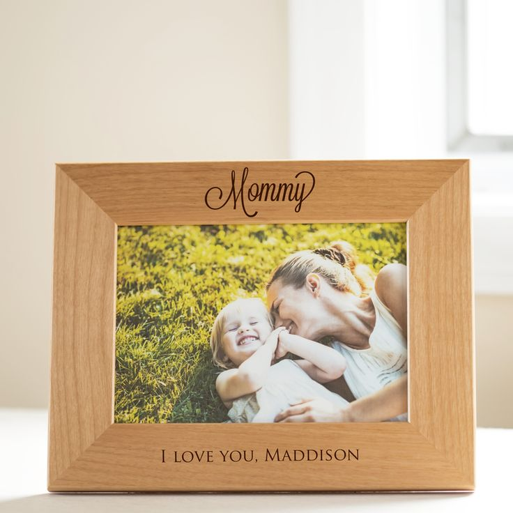 Shop & personalize now: Our sentimental and beautifully engraved picture frame is personalized just for mom.