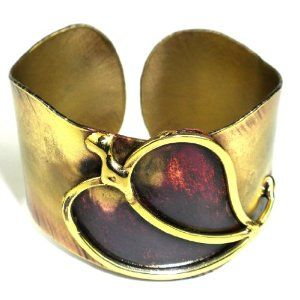 Large Single Heart Cuff (South Africa) Global Crafts. $32.50