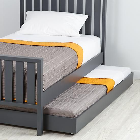Cargo Trundle Bed Charcoal The Land Of Nod Kid Beds