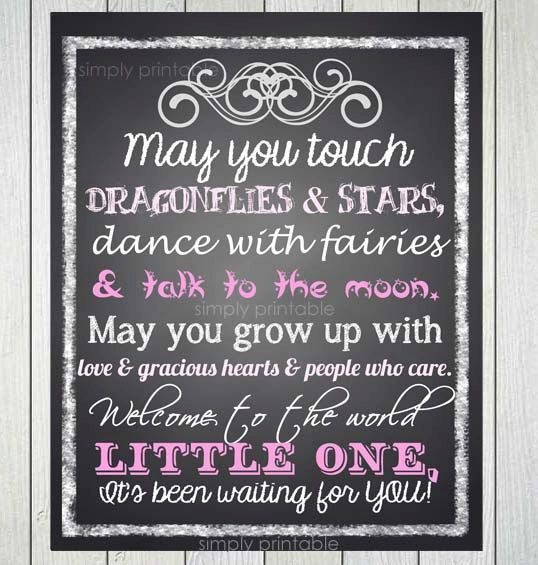Baby Girl Quote Printable 11x14 Print by simplyprintable on Etsy