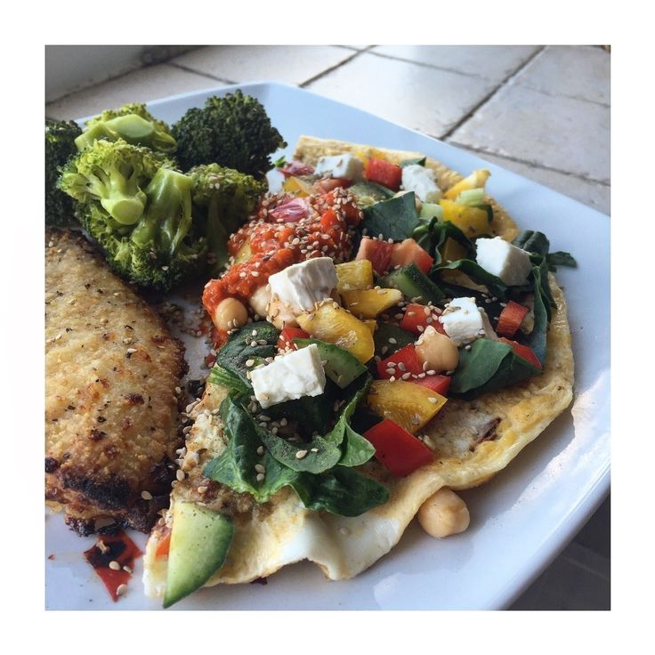 Rainbow Omelette with Goats Cheese and Ajvar