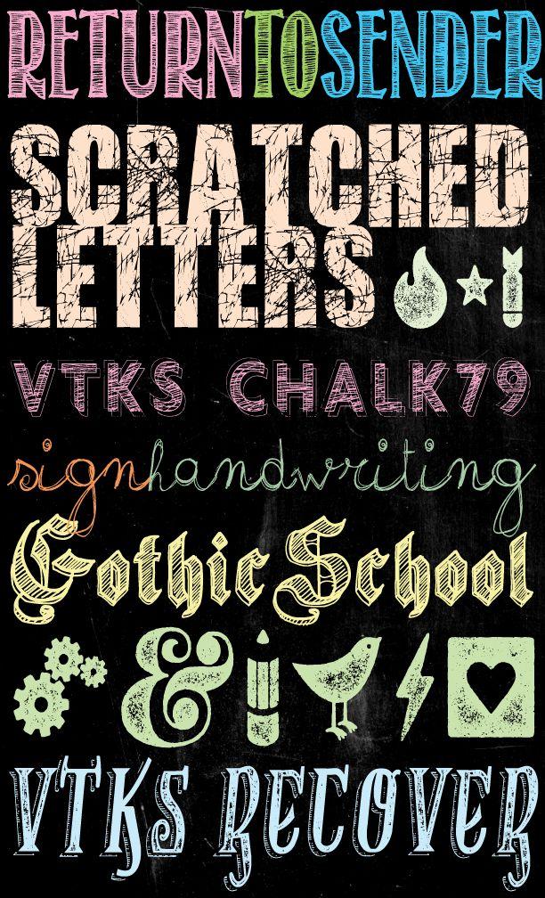 Tons of Free Chalkboard Fonts and Dingbats! | U Create