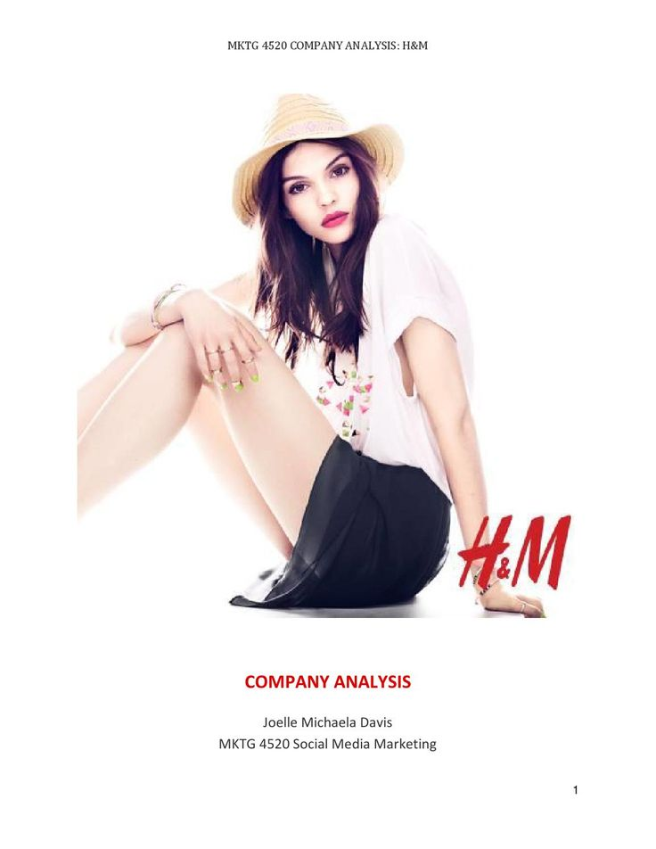 H&M Company Analysis  A detailed look into H&M's digital presence, including an analysis of both the company's social media channels and recent online campaigns.