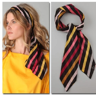 Stripes and scarves?! Love it!