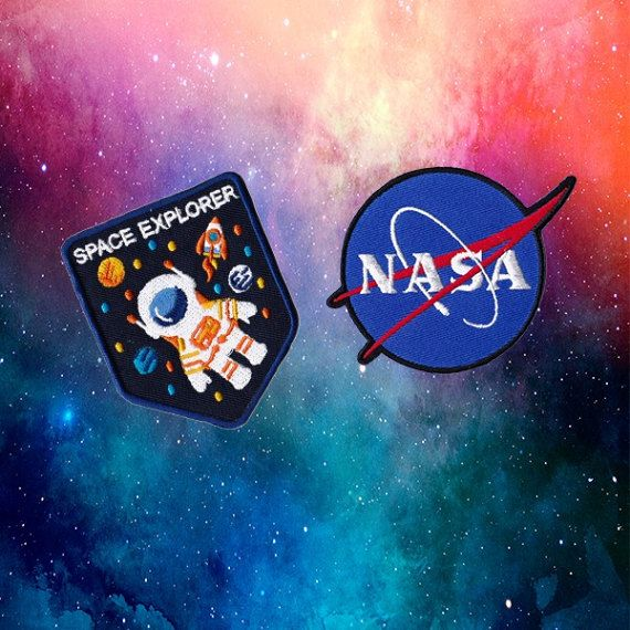 Space Patches Nasa Patches Patch Iron On Patch Set Appliques