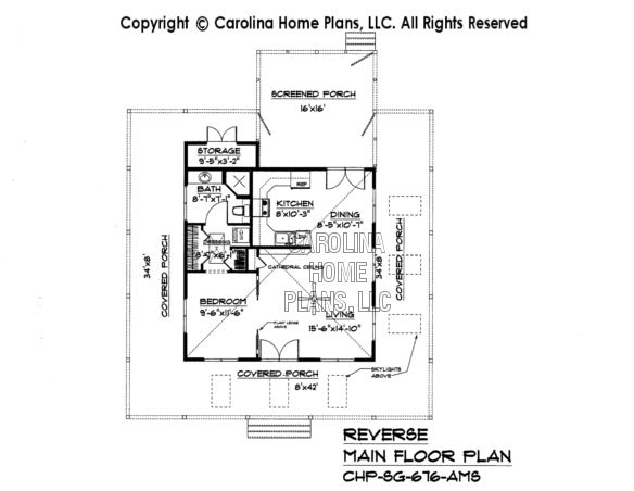 Tiny country cottage house plan sg 676 sq ft affordable for Small house plans under 700 sq ft