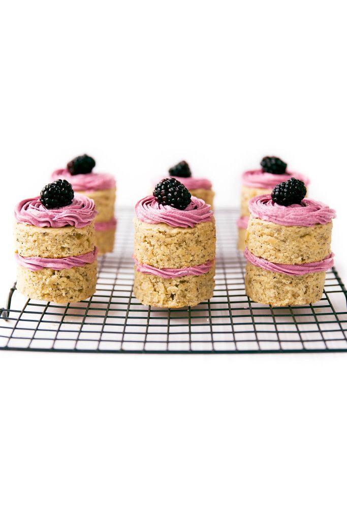 Earl Grey & Roasted Blackberry Petit Fours