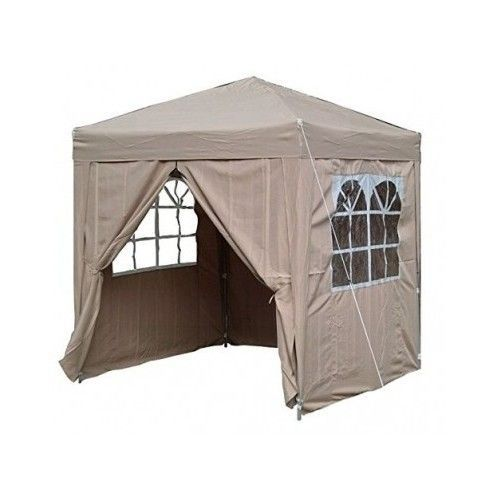 Pop Up Garden Gazebo Tent Canopy Party Outdoor Shade Sides Windows Waterproof