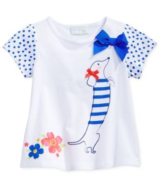 First Impressions Baby Girls' Little Dachshund T-Shirt, Only at Macy's
