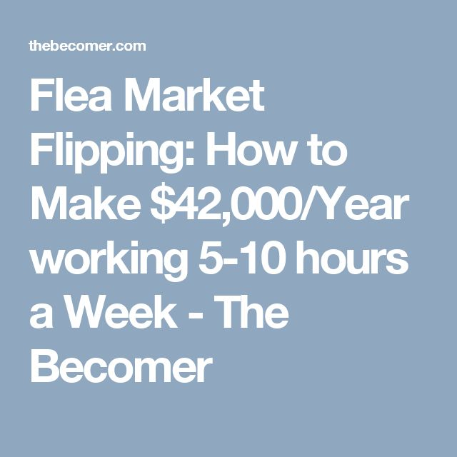 Flea Market Flipping: How to Make $42,000/Year working 5-10 hours a Week