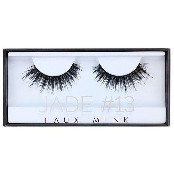 HUDA BEAUTY Faux Mink Lash Jade ($26) ❤ liked on Polyvore featuring beauty products, makeup and eye makeup