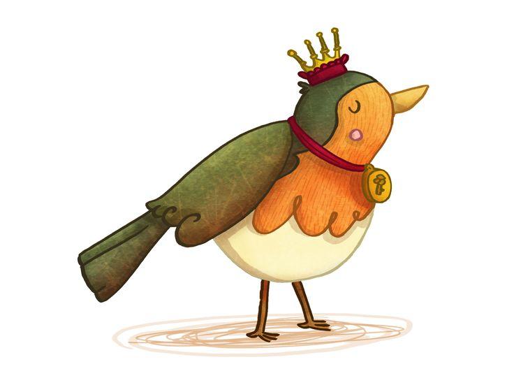 Happy little royal robin!! :)