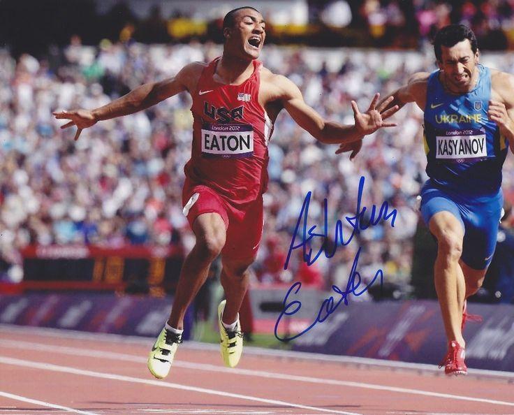 Ashton Eaton Autographed Signed 8X10 Photo COA 'Team Usa Olympics Decathlon'