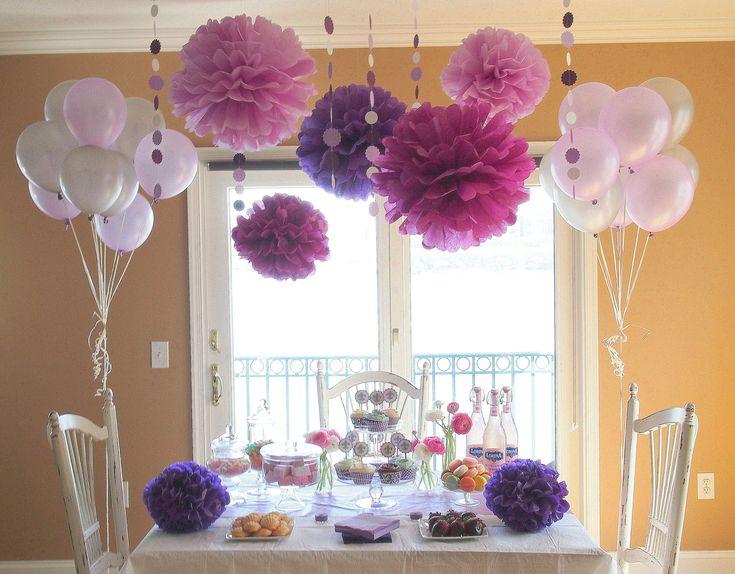 Purple Party / Shower Decoration Package. $74.95, via Etsy.
