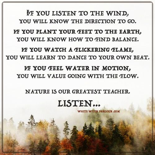Witchy Tip of the Day: Just breathe & pay attention to the lessons of nature. Nature Inspired Products Available Here