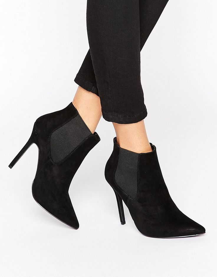 New+Look+Suedette+High+Heeled+Ankle+Boots