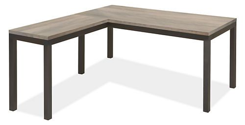 Parsons L-Shape 60x30 Desk with 36x18 Desk Return    Our classic Parsons desk features a bold natural steel base with subtle weld marks that make each piece unique and showcase the craftsmanship of the Minnesota artisans who build each one by hand. Choose from a variety of top options to make Parsons your own.    $1,438.00