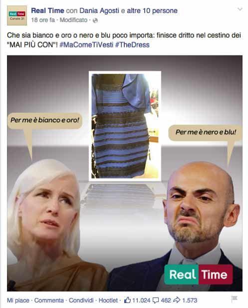 Vestito blu e nero facebook advertising