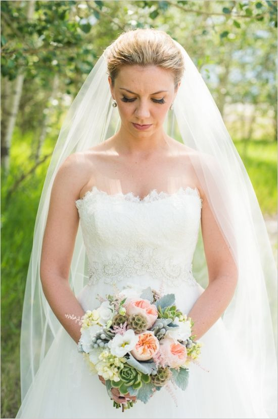romantic bridal look #bride #bridals #weddingchicks http://www.weddingchicks.com/2014/03/03/majestic-alberta-mountain-wedding/
