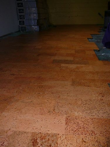 Pin by domenica hall on projects to try pinterest for Cork flooring in basement