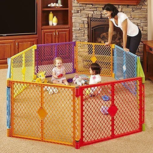8 Panel Kids Toddlers Play Yard Baby Playpen Indoor Outdoor Safety Fence Pet Dog