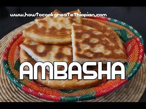 Ethiopian Food - Ambasha Bread Recipe - Amharic English Baking - Injera Mulmul Annebabero - YouTube