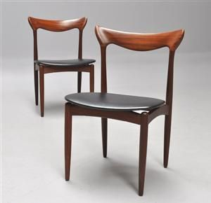 H. W. Klein. Chairs of teak and leather