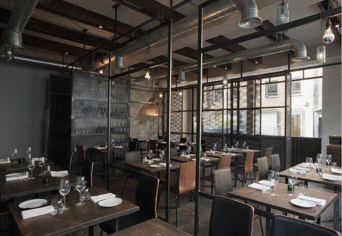 industrial restaurant bar in london called dabbous designed by brinkworth image source archinspireorg industrial revolution pinterest industrial