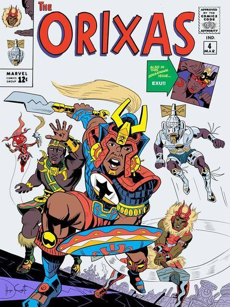 Marvel con los Orishas: un artista brasileño convierte a los dioses africanos en superhéroes